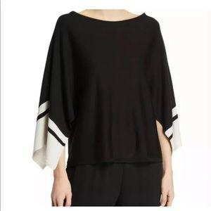 Eileen Fisher Bateau Silk Tencel Poncho Blouse 3X